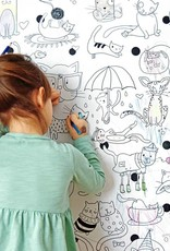 Atelier Rue Tabaga Chats - Coloriage géant