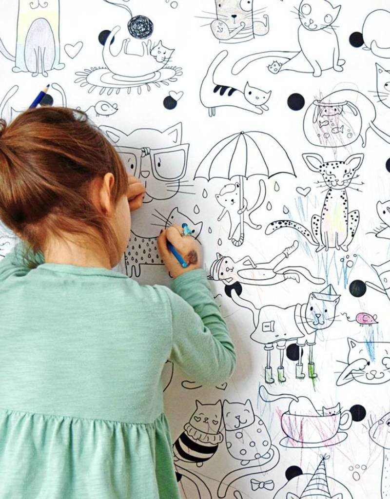 Atelier Rue Tabage Chats - Coloriage géant