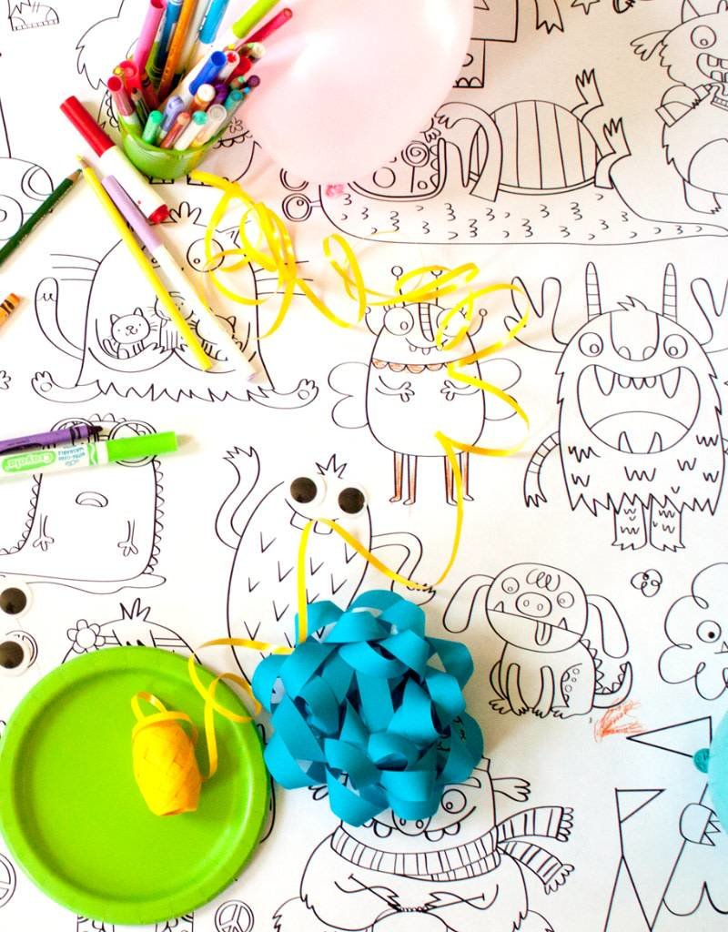 Atelier Rue Tabaga Little monsters - Giant coloring