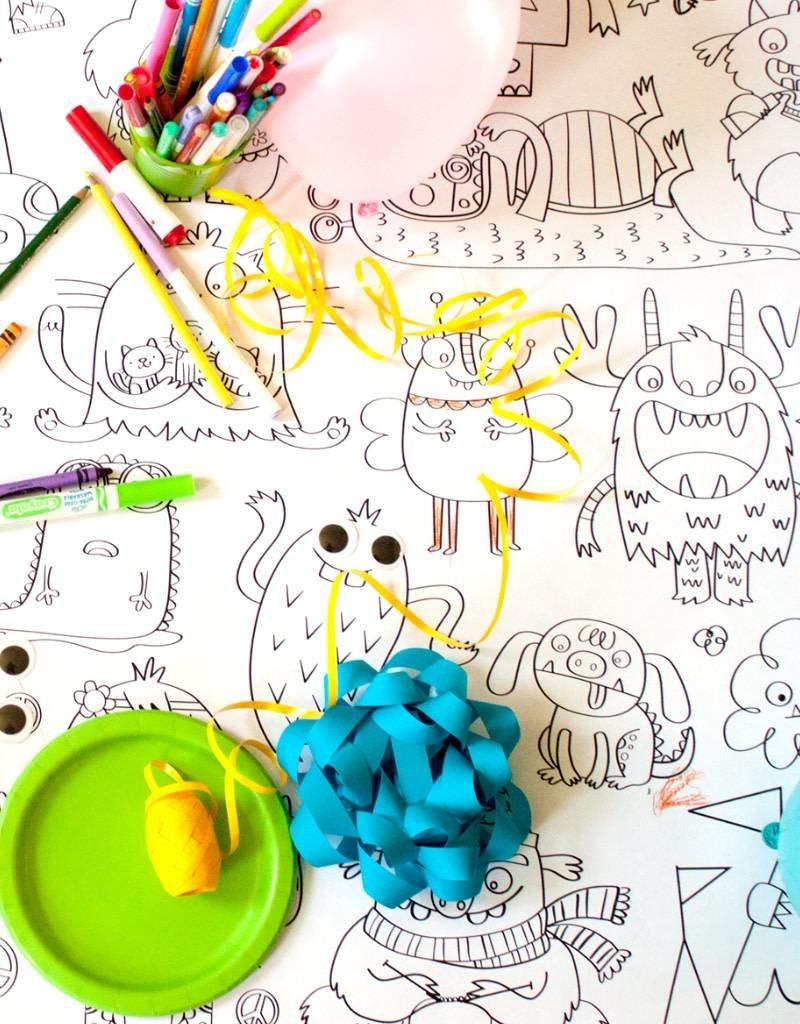 Atelier Rue Tabaga Petits monstres - Coloriage géant