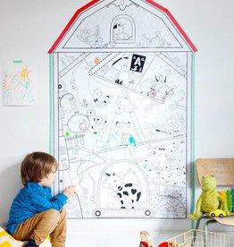 Atelier Rue Tabage Ma petite ferme - Coloriage géant