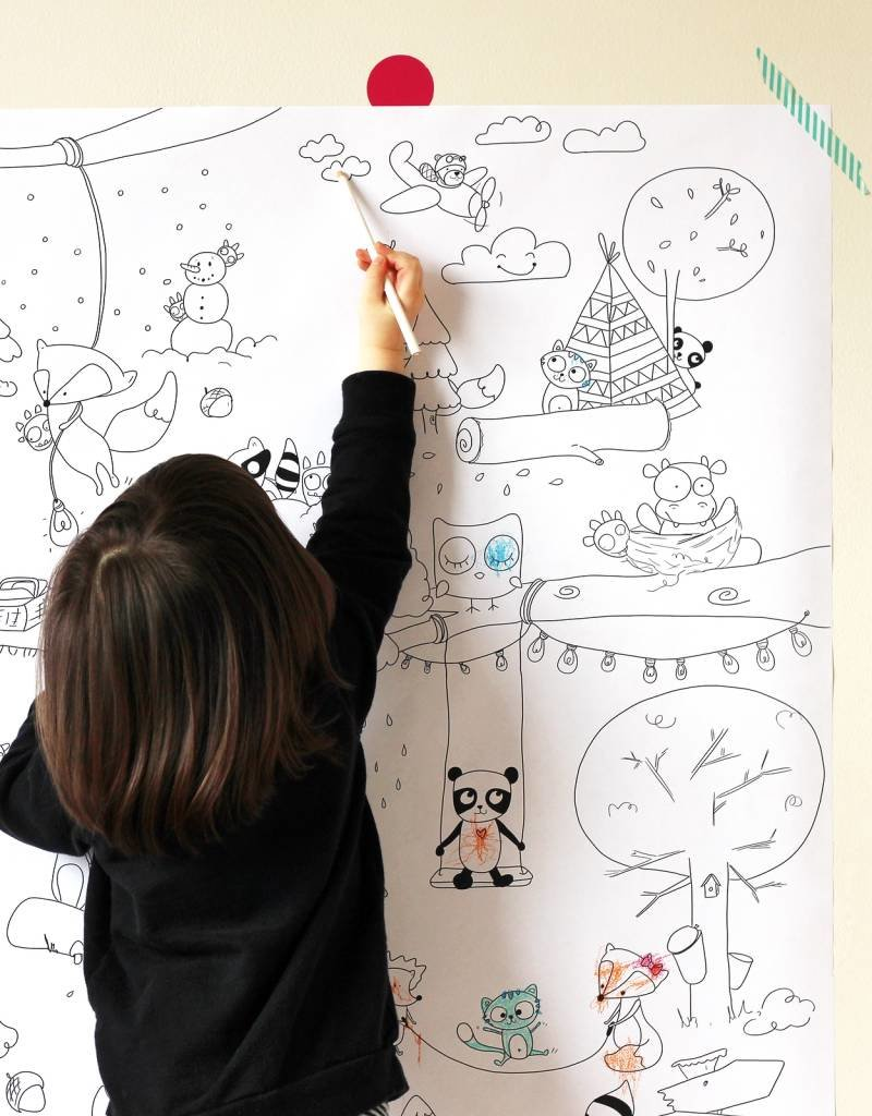 Atelier Rue Tabaga Forest Veille sur toi - Giant coloring