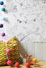 Atelier Rue Tabage Festive - Coloriage géant