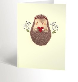 Valérie Boivin Illustrations Greeting Card - Cute hedgehog