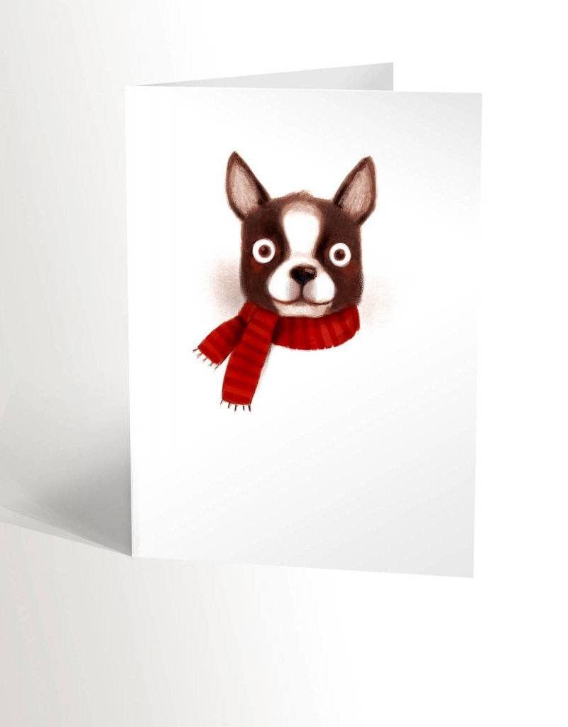 Valérie Boivin Illustrations Greeting Card - Christmas Boston