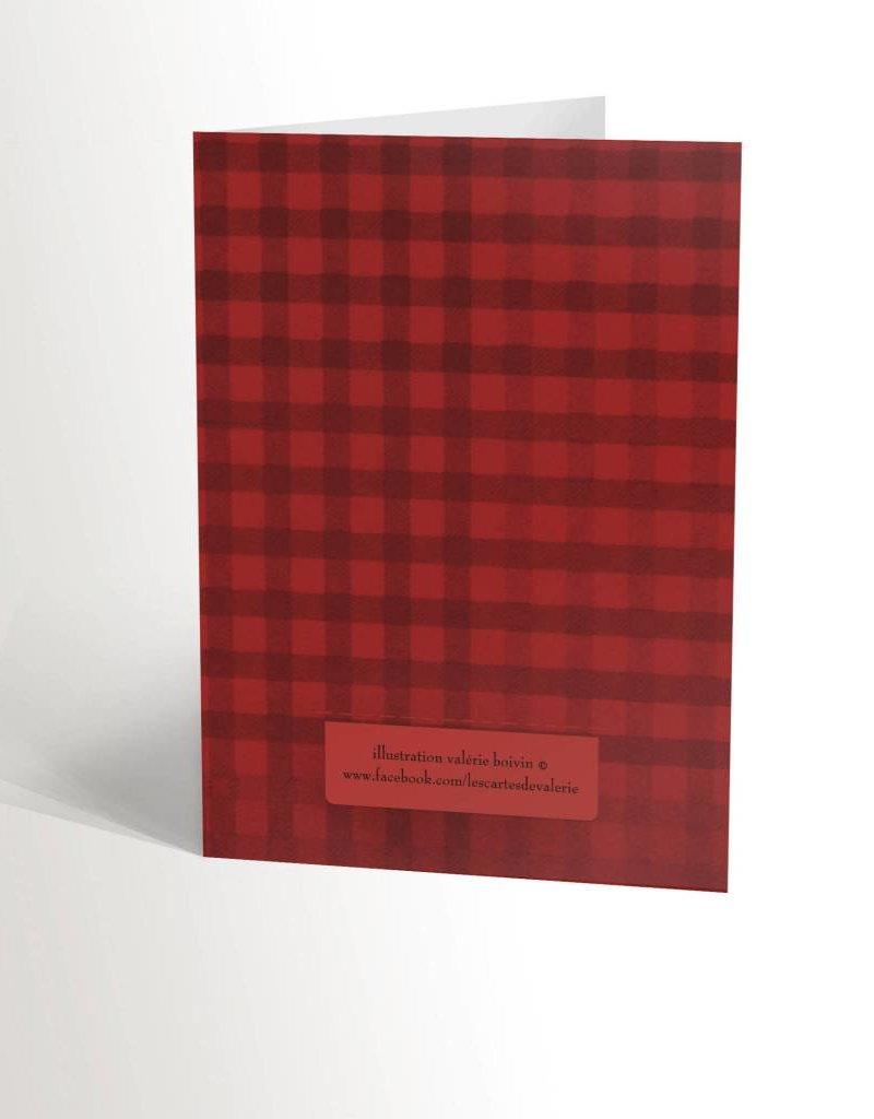 Valérie Boivin Illustrations Carte de souhaits - Boston de Noël