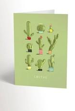 Valérie Boivin Illustrations Carte de souhaits - Cactus