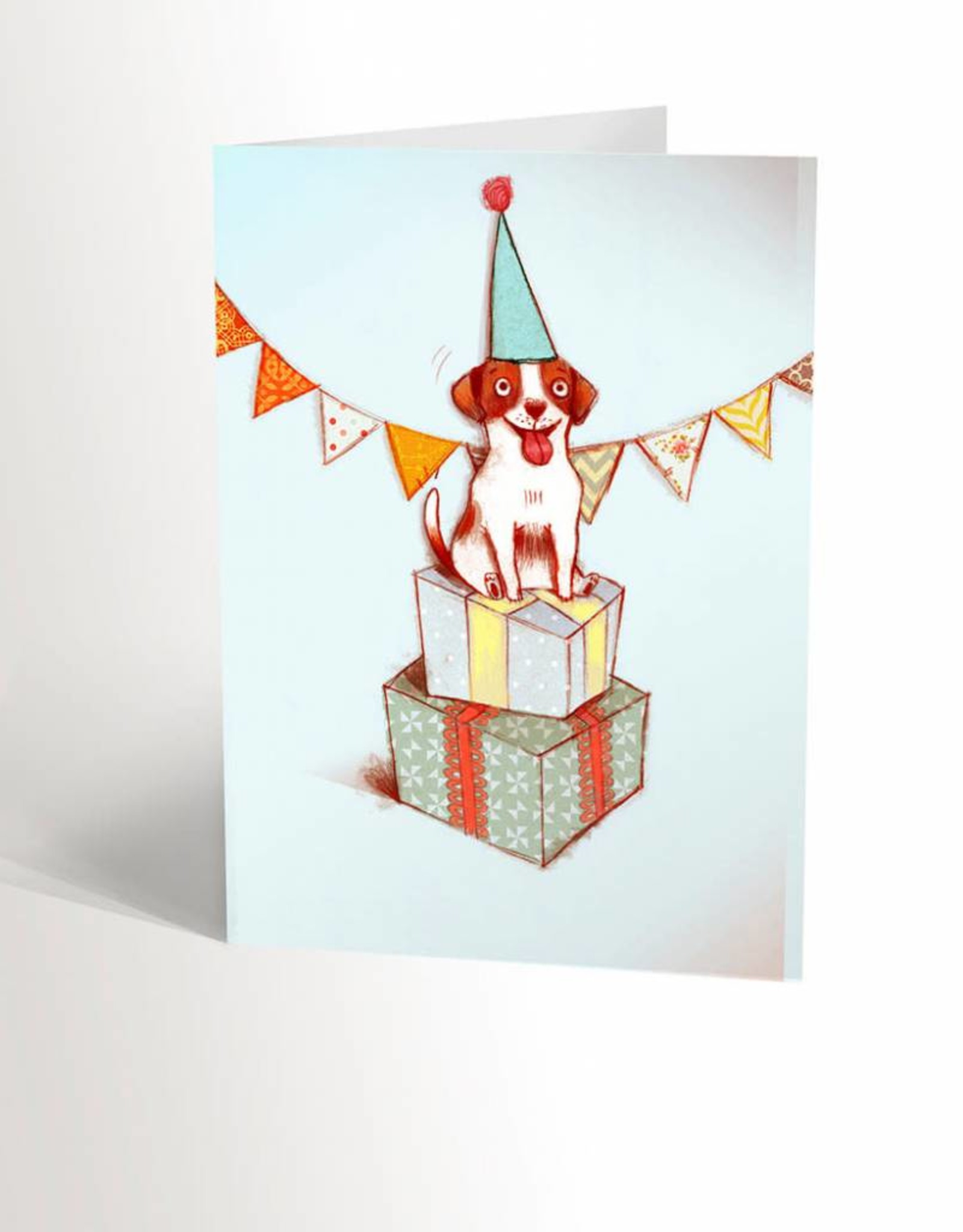 Valérie Boivin Illustrations Greeting Card - Festive Dog
