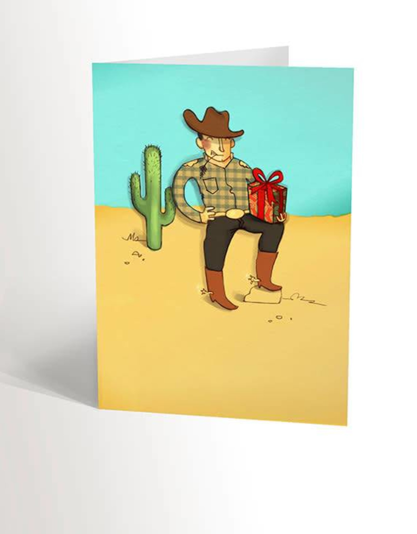 Valérie Boivin Illustrations Greeting Card - Romantic Cowboy