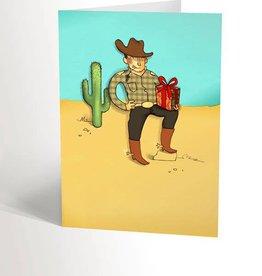 Valérie Boivin Illustrations Greeting Card - Romantic Cowboy