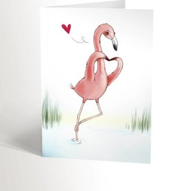 Valérie Boivin Illustrations Greeting card - Flamingo