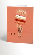 Valérie Boivin Illustrations Greeting card - Strong man