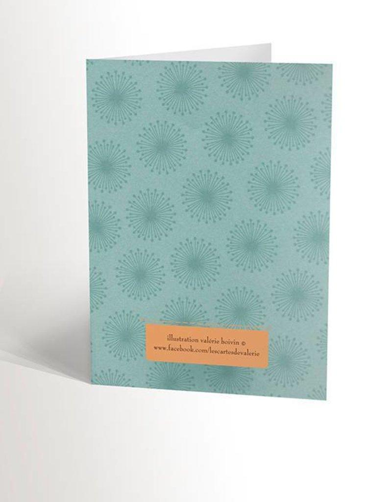 Valérie Boivin Illustrations Greeting card - Lama love
