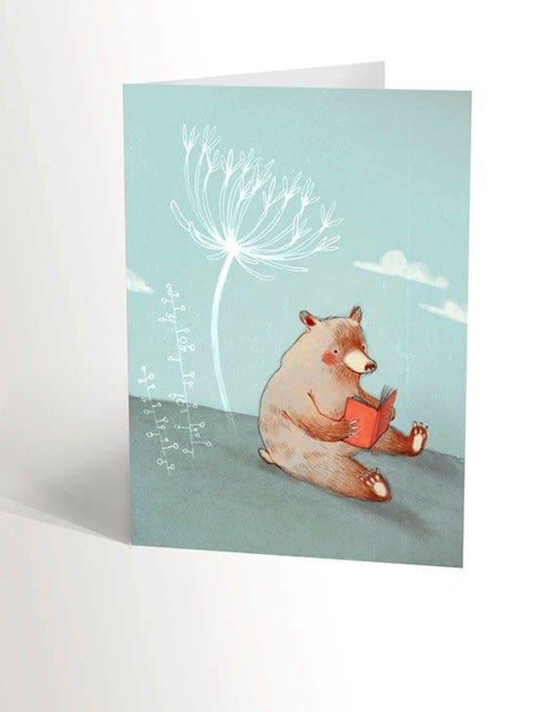 Valérie Boivin Illustrations Carte de souhaits - L'ours qui lit