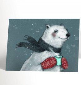 Valérie Boivin Illustrations Carte de souhaits - Ours polaire