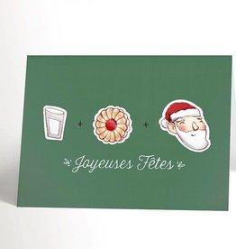 Valérie Boivin Illustrations Carte de souhaits - Biscuit de Noël
