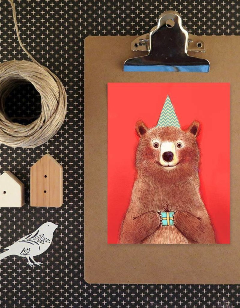 Valérie Boivin Illustrations Greeting Card - Red Bear
