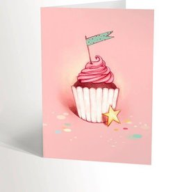 Valérie Boivin Illustrations Greeting Card - Pink Cupcake
