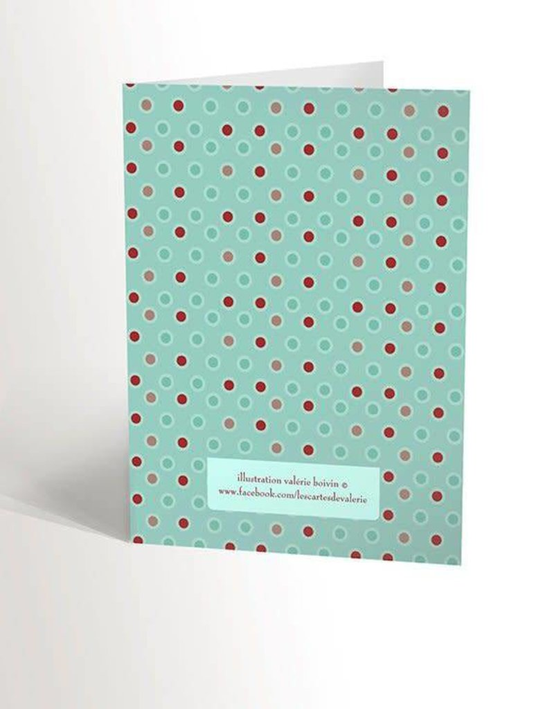 Valérie Boivin Illustrations Carte de souhaits - Cupcake rose