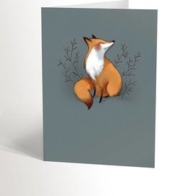 Valérie Boivin Illustrations Greeting Card - Blue Fox