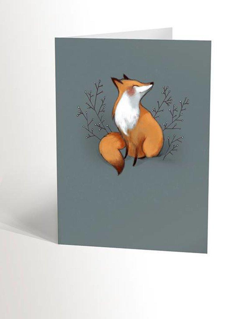 Valérie Boivin Illustrations Carte de souhaits - Renard bleu