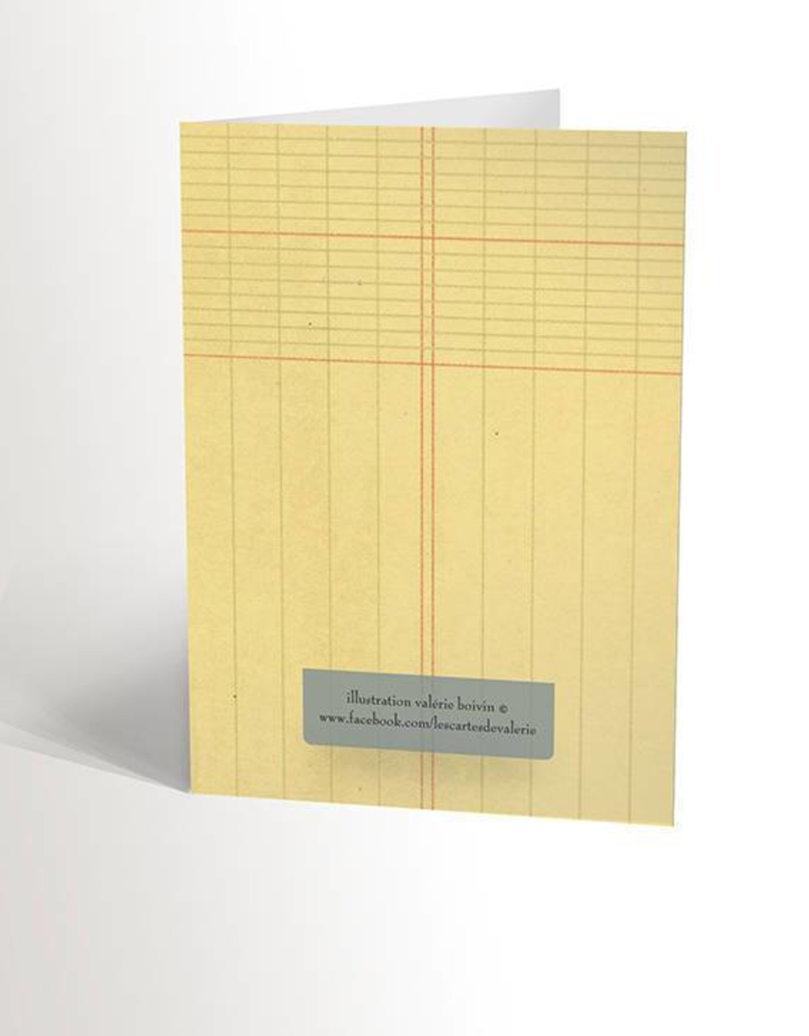 Valérie Boivin Illustrations Greeting Card - Blue Fox