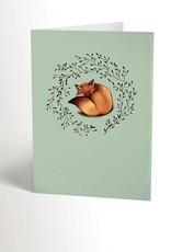 Valérie Boivin Illustrations Carte de souhaits - Renard doux