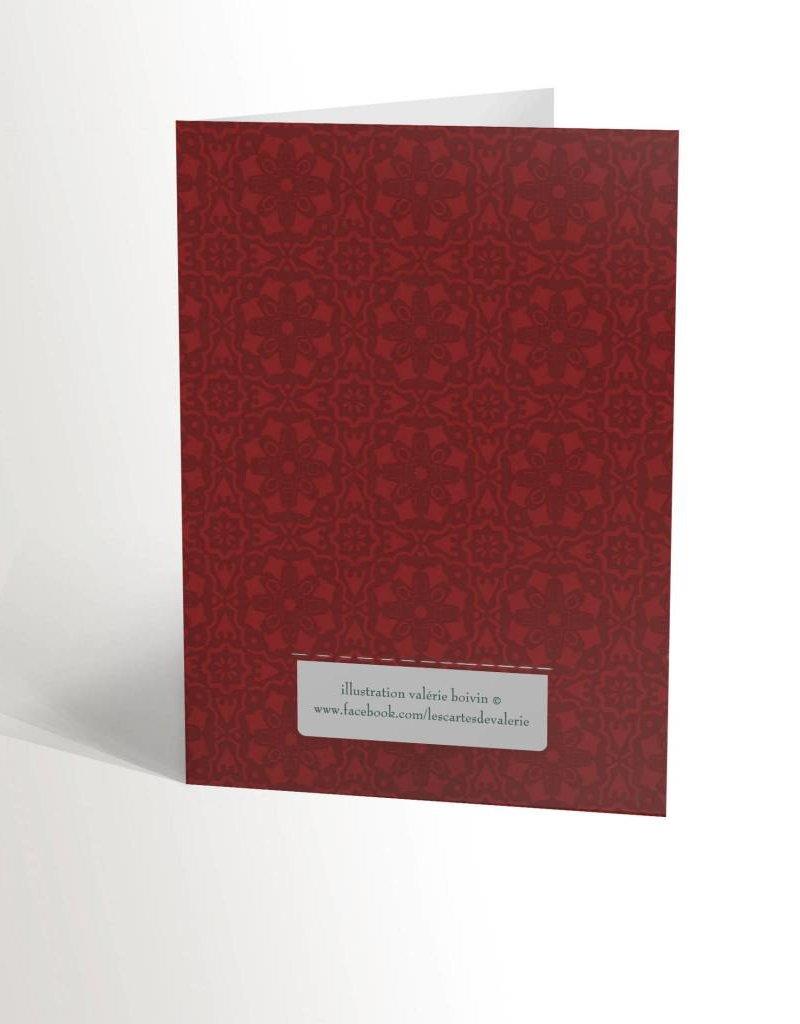 Valérie Boivin Illustrations Carte de souhaits - Renne au foulard