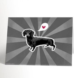 Valérie Boivin Illustrations Greeting Card - Black and White dog