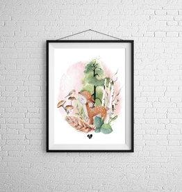 Zack et Livia Illustration - Cerf