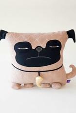 Velvet Moustache Pug