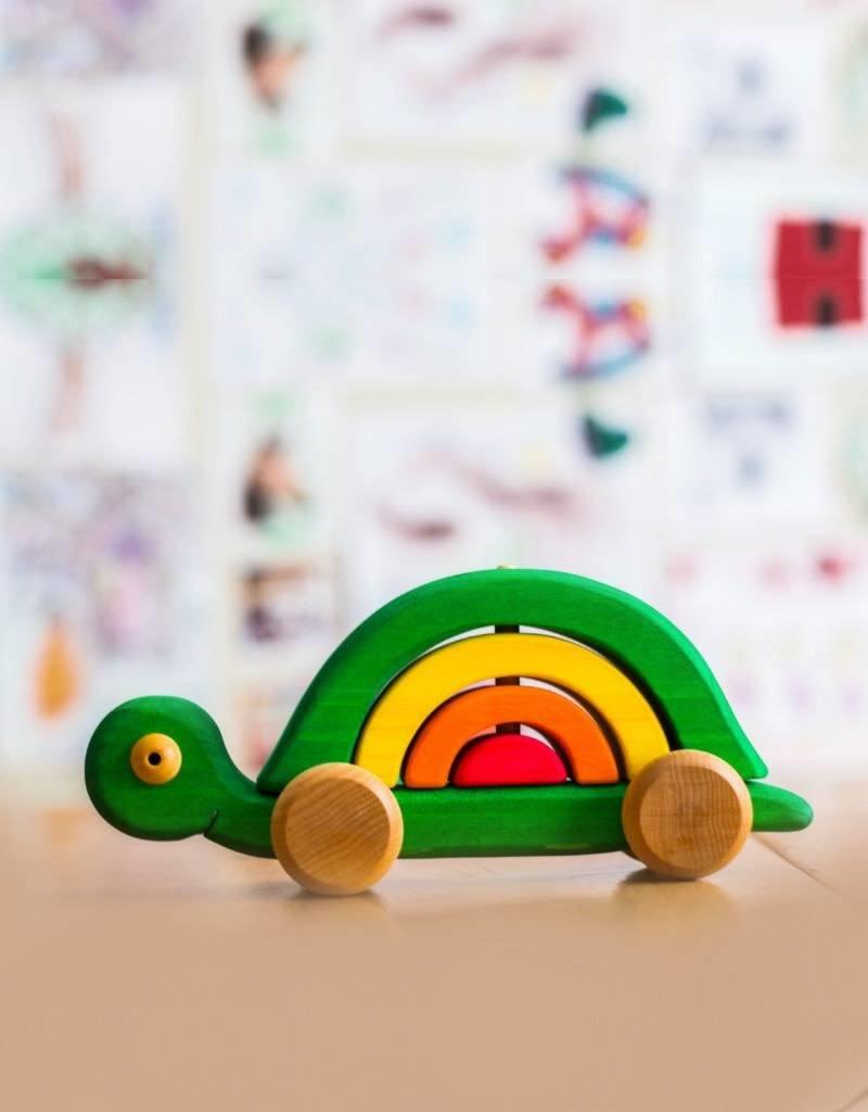 Atelier Cheval de bois Wooden stackable turtle