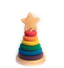 Atelier Cheval de bois Rondelle empilable avec étoile