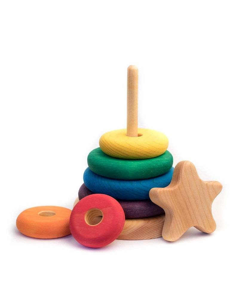 Atelier Cheval de bois Wooden stacker with star