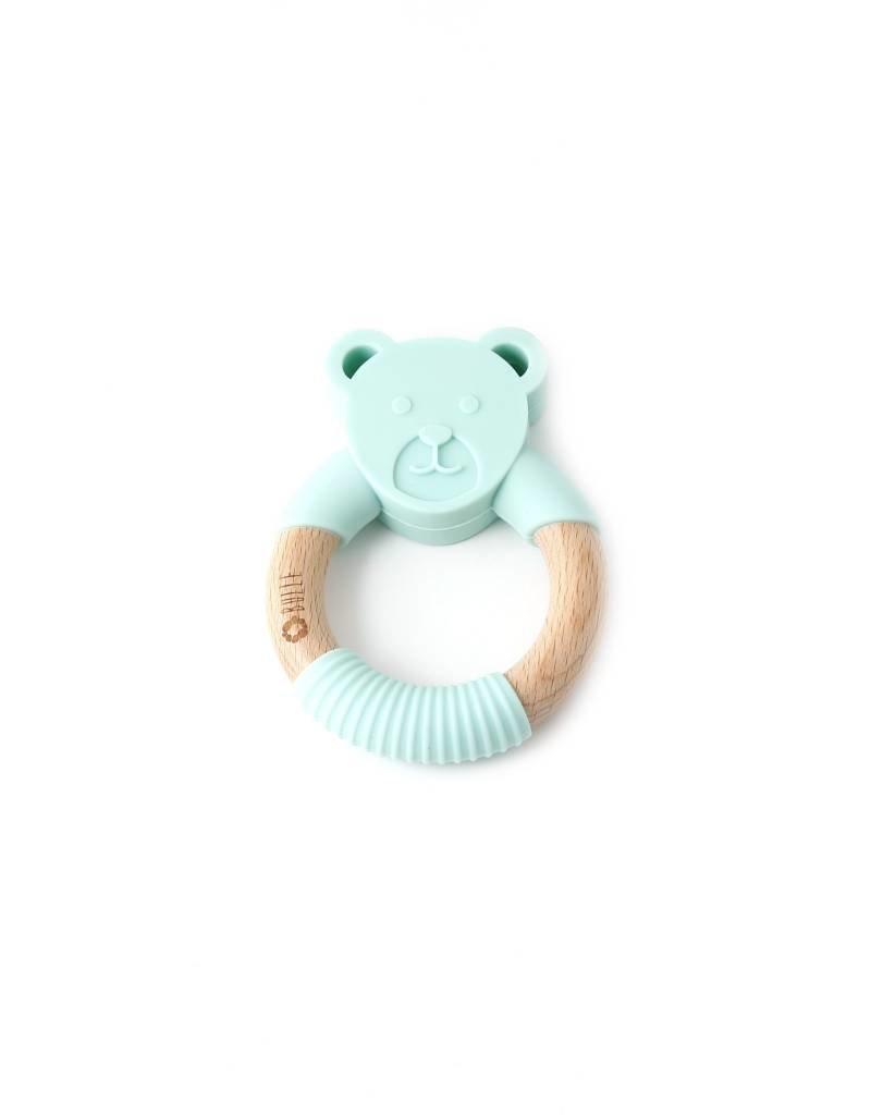 Bulle bijouterie Hochet ourson turquoise