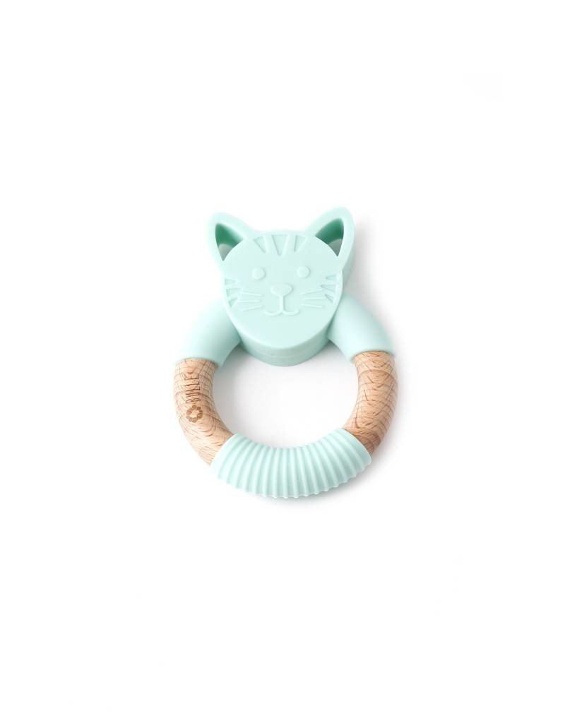 Bulle bijouterie Hochet chat turquoise