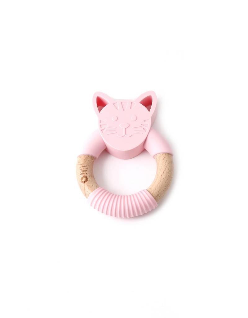 Bulle bijouterie Hochet chat rose