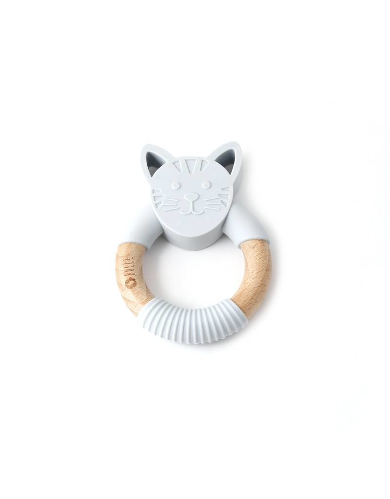 Bulle bijouterie Hochet chat gris