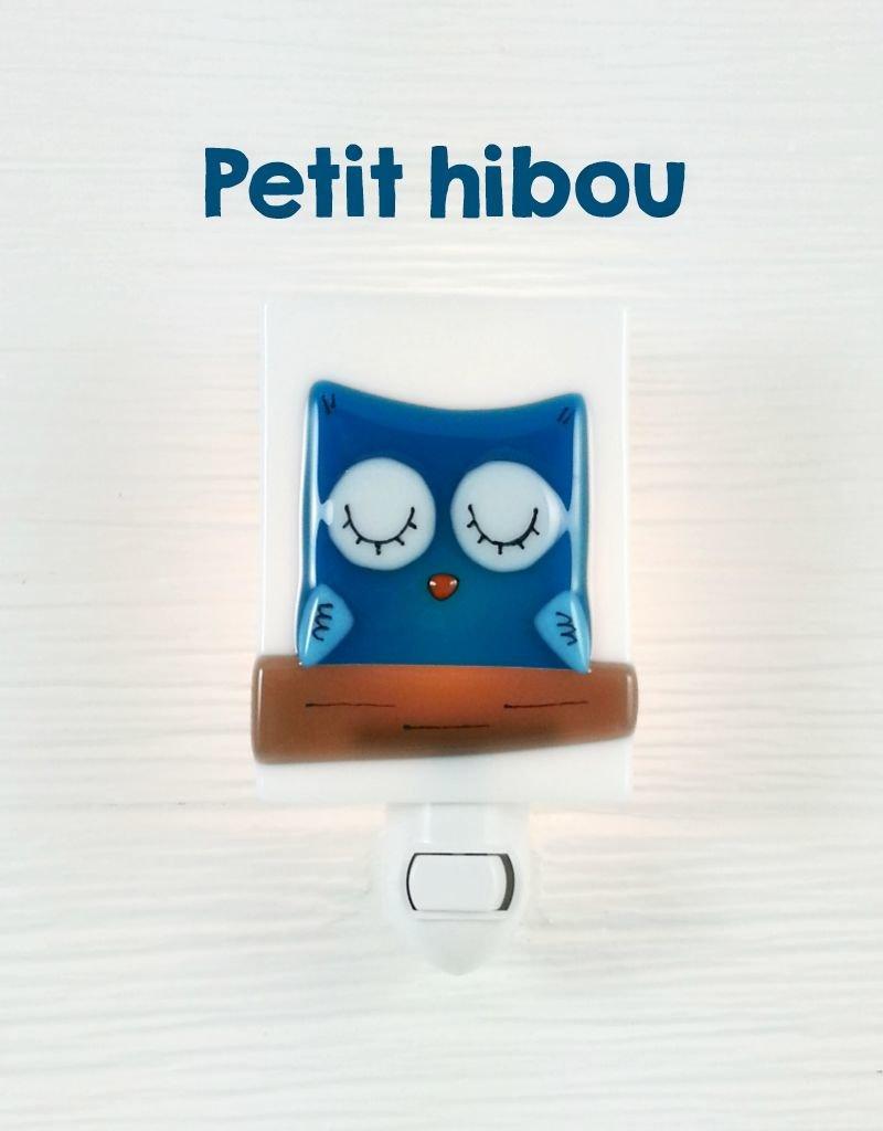 Veille sur toi Nightlight - Owl - Blue