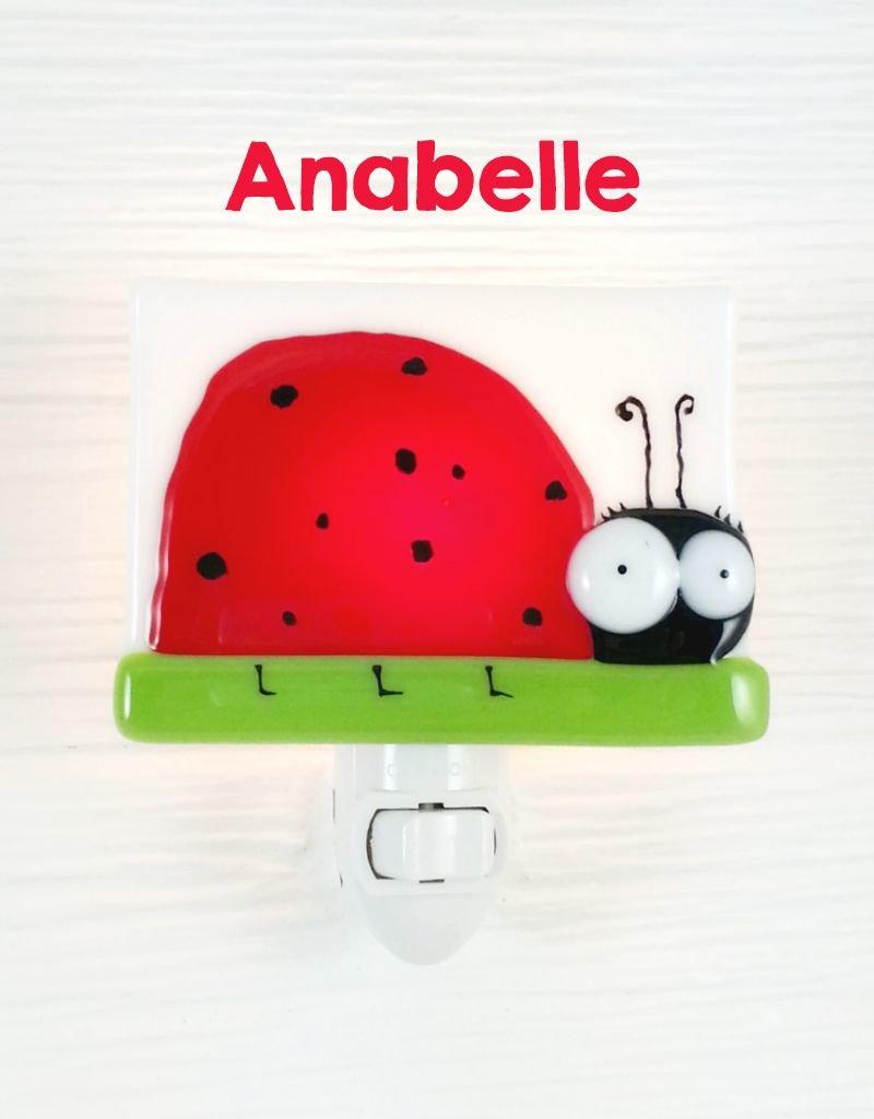 Veille sur toi Veilleuse - Coccinelle - Anabelle
