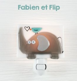 Veille sur toi Nightlight - Elephant - Fabien and Flip