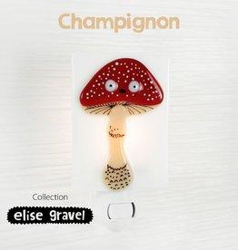 Veille sur toi Veilleuse - Champignon - Elise Gravel