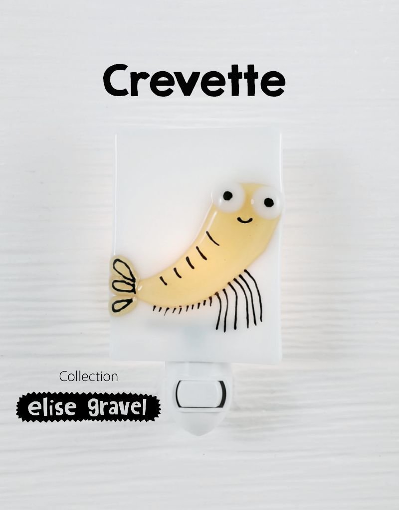 Veille sur toi Nightlight - Shrimp - Elise Gravel