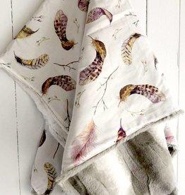 Les Petits Ziboo Blanket - Feathers