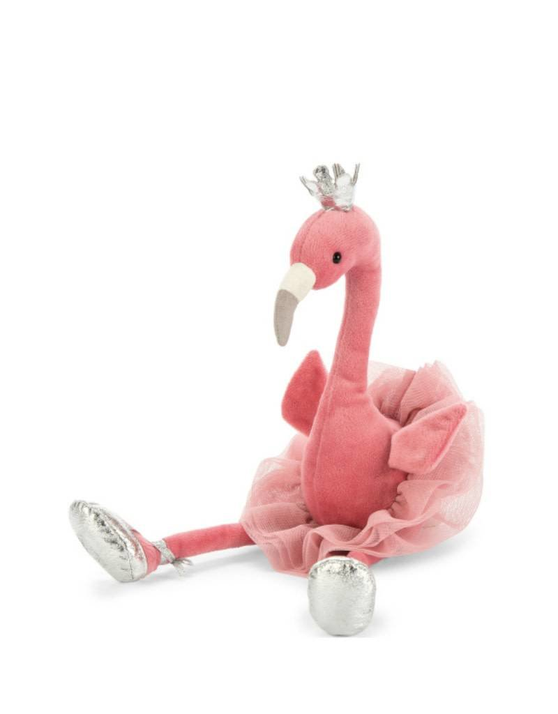 Jelly Cat Peluche Flamant Rose Ballerine -Petit