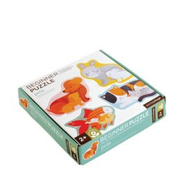 Petit Collage Puzzle - Pet Baby animals 2+