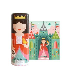 Petit Collage Puzzle Tin & Coin Bank - Princess 4+