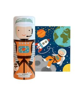 Petit Collage Puzzle Tin & Coin Bank - Into space 4+