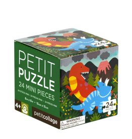 Petit Collage Mini Puzzle - Dinosaurs 4+
