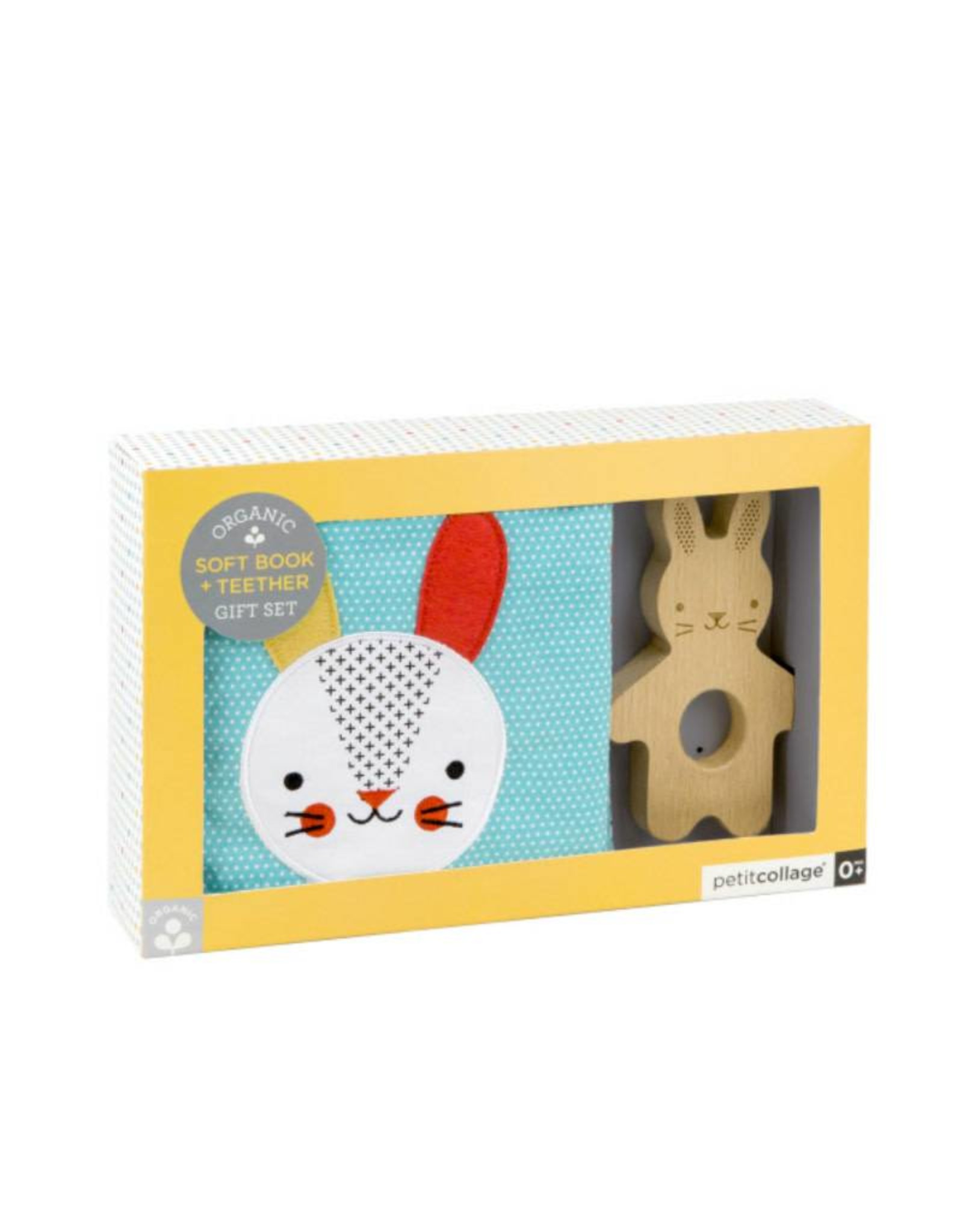 Petit Collage Organic soft book + Teether set 0+